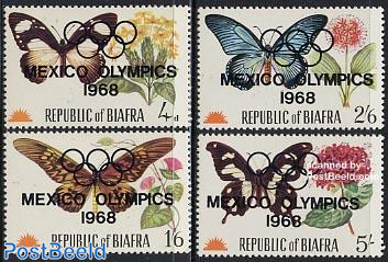 Olympic games Mexico overprints 4v