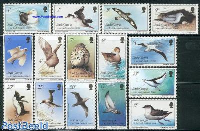 Definitives, birds 15v