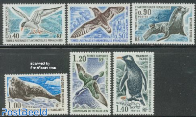 Definitives, animals 6v