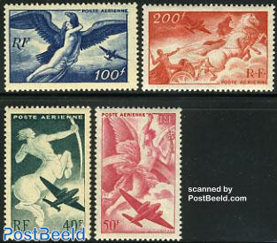 Airmail definitives 4v