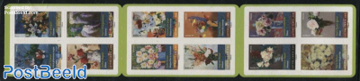Flower Paintings 12v s-a in booklet