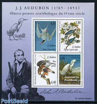 Birds, J.J. Audubon s/s