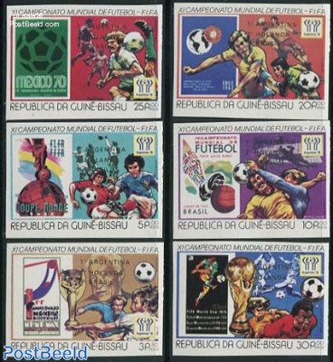World Cup Football winners 6v imperforated silver text