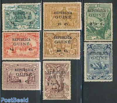 Vasco da Gama 8v, on stamps of Timor