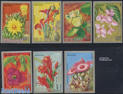 North American flowers 7v imperforated