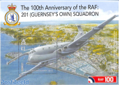 201 (Guernsey's own) squadron, 100 years RAF s/s