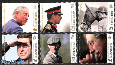 Prince Charles 70th birthday 6v