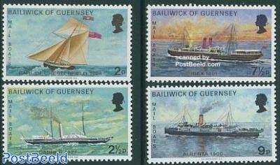 Postal ships 4v