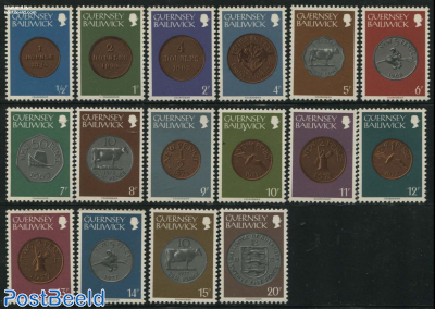 Definitives, coins 16v