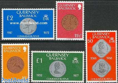 Definitives, coins 5v