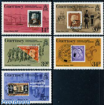 150th anniversary of stamps 5v