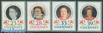 Elizabeth 40th accession anniversary 4v