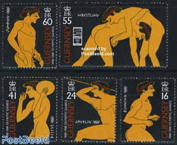 100 year modern olympics 5v
