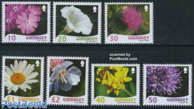 Definitives, flowers 7v