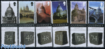 St. Pauls Cathedral 6v (with granite on stamps)