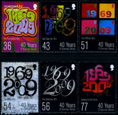 40 Years of Guernsey stamps 6v