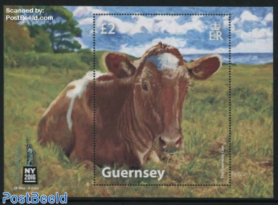 World Stamp Show, Guernsey Cow s/s