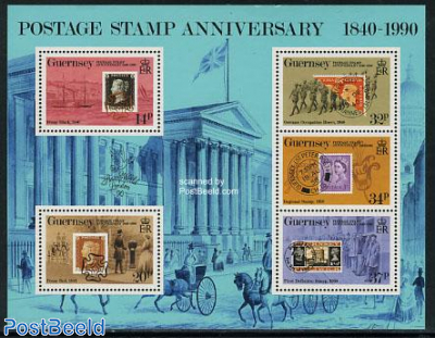 150th anniversary of stamps s/s