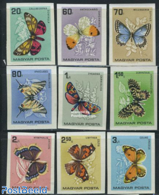 Butterflies 9v imperforated