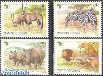 African animals 4v