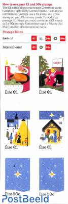 Christmas 4v s-a in booklet