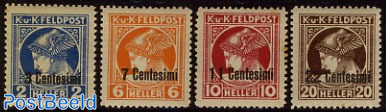 Kuk post, Newspaper stamps 4v