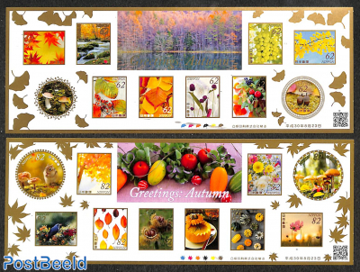 Autumn wishing stamps 20v (2 m/s) s-a