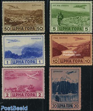 Airmail definitives 6v, views