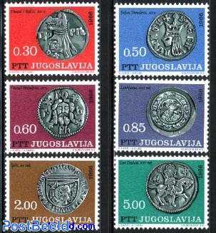 Silver coins 6v