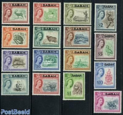 Sabah, definitives 16v