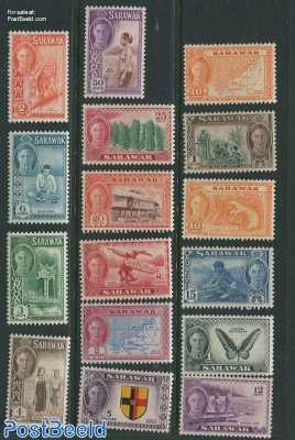Sarawak, definitives, views 16v