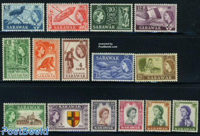 Sarawak, definitives 15v