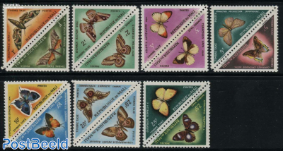 Postage due, butterflies 7x2v [:]