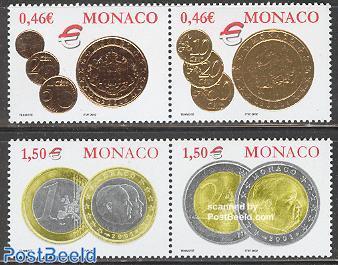 Euro coins 2x2v