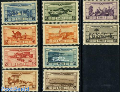 Airmail definitives 10v
