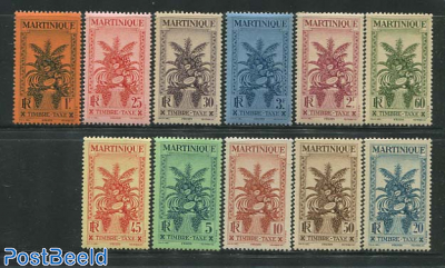 Postage due, tropical fruits 11v