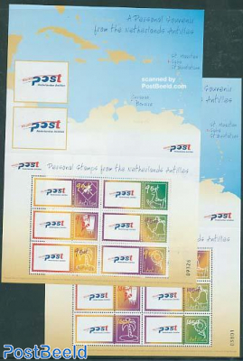Personal stamps 2x6v m/s