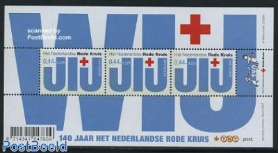 Red Cross s/s (with 3 stamps)