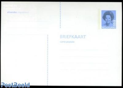 Postcard, Beatrix 55c, blue (148x102mm, Phosphor bar: 3x25mm)