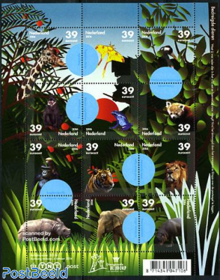 Zoo animals 12v m/s (with hidden messages in blue)