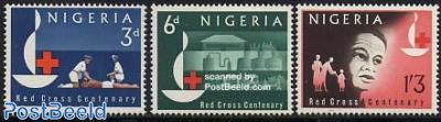 Red Cross Centenary 3v