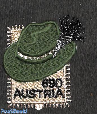 Steirer hat 1v, textile woven stamp