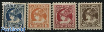 Fieldpost, Newspaper stamps 4v