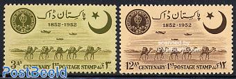 Stamp centenary 2v