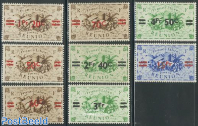 Definitives overprinted 8v