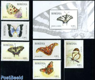 Butterflies 6v+s/s