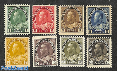 Definitives, George V 8v