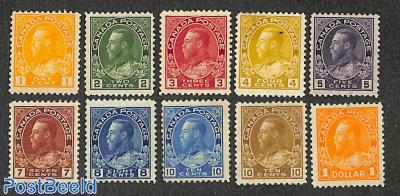 Definitives, George V 10v