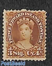 Prince Edward, Queen Victoria 4.5p, 1v