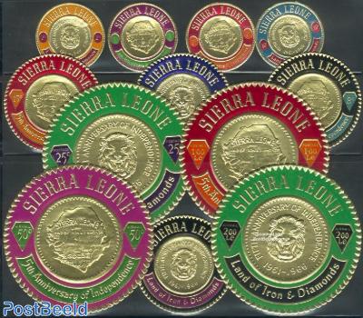 Golden coins 12v